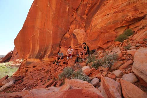Valley of Fire picknick, Las Vegas