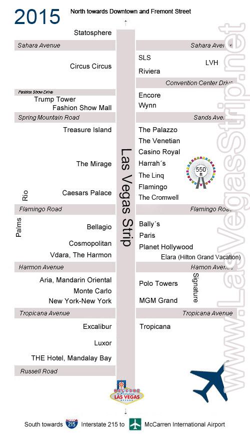 karta över hotell göteborg Karta över Las Vegas Strip och hotell   Uppdaterad! karta över hotell göteborg