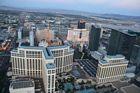 Helikopter flygning över Las Vegas Strip