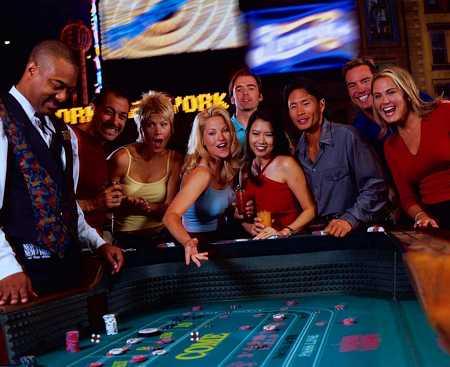 Tärningsspelet Craps på casino i Las Vegas