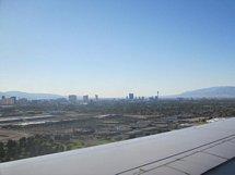 Flyg inför landning i Las Vegas