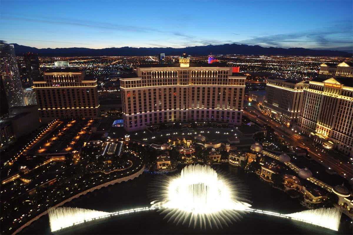 Belligos fontän i Las Vegas